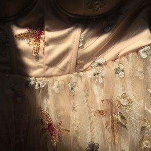 L'atiste By Amy tan floral romper dress